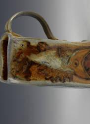 Woodfired Toothy Fish Mug by failefalcon