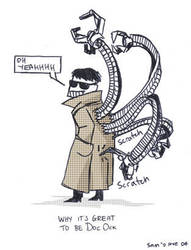Doc Ock birthday card by Samorai