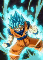 Goku Blue by SenniN-GL-54