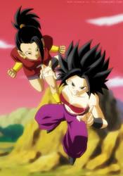 Kale and Caulifla - Dragon Ball Super by SenniN-GL-54