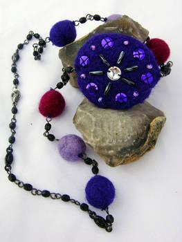 Purple Felt Necklace by bowiegirl1982
