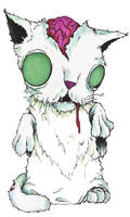 Zombie cat by Aaron-R-Morse