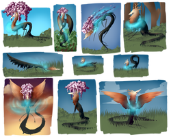 Another Ayla Pose Sheet XD by mamasaurus