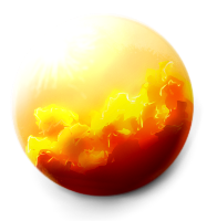 Fire Opal Orb by mamasaurus