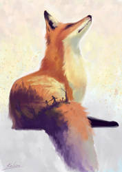 The fox remembers... by Wolka-Art