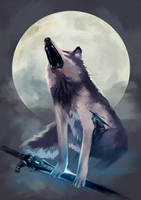 Sif, the Great Grey Wolf by Wolka-Art