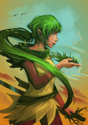 Daughter of Nature by Wolka-Art
