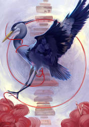 [Commission] Great Blue Heron by Wolka-Art