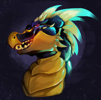 Dragon Portrait by Elicitie