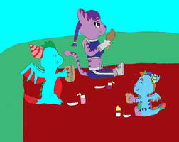 Family Picnic by katamariluv