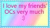 I Love my Friends' OCs stamp by katamariluv