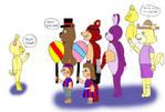Daisy Meets the Gang by katamariluv