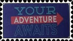 Your Adventure Awaits stamp by katamariluv