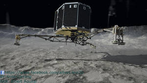 Philae Lander Touchdown to Comet by SolarGaming
