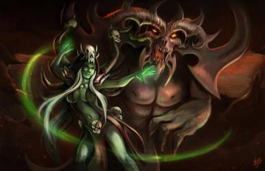 Girly Orc Warlock by NataliaSoleil