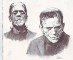 Frankenstein sketch study by FLOWERZZXU