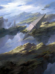 Magic the Gathering Basic Lands Plains by FLOWERZZXU