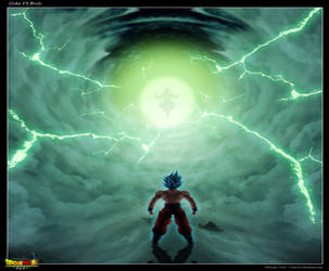 Fan art DBS Broly 2018 movie : Goku VS Broly by Crakower