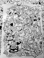 Doodle: Nyan express (Uncolored) by RedStar94