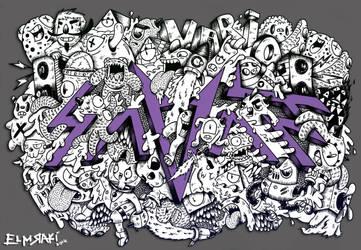 Savant doodle by RedStar94