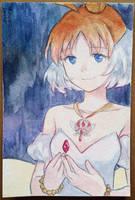 Princess Tutu watercolor postcard by lastyINpixiv