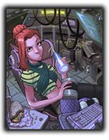 Space Elf Hacker by SC4V3NG3R