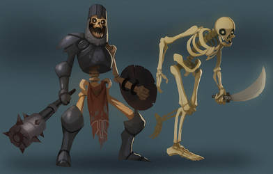 Skeleton buddies by SC4V3NG3R