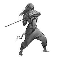 Cyborg Swordmaster by SC4V3NG3R