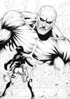 MIkasa_Attack on Titan by Deilson