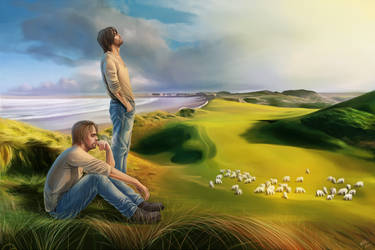 Irish guys and sheeps by YotsukiCrashTaylor
