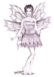 Classic Tinkerbell Character Drawing by butterflyeyes884
