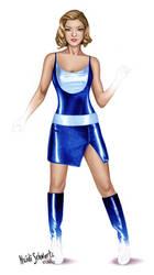 Superhero Cinderella Character Concept Art by butterflyeyes884