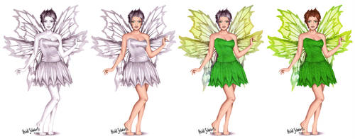 Classic Tinkerbell Character Progression by butterflyeyes884