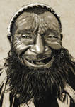 old man with the toothless grin by Mckdirt