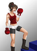 Girl boxer by PituSilver