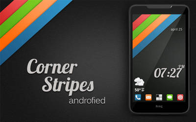 Corner Stripes Androified by RobotBoyMedia