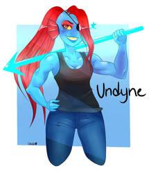 Undyne Fanart by MisBlis