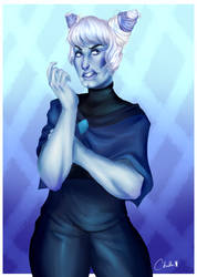 Holly Blue Agate by MisBlis