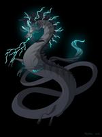 Dragon-A-Day 166 (Thunderstorm) by Mythka