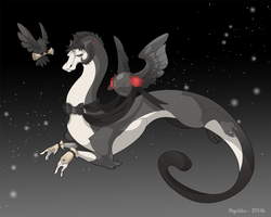 Dragon-A-Day 205 .Quote the Raven. by Mythka