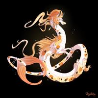 Koi Fish Dragon #49 by Mythka