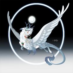 Snowy Moonlit Hippogriff - DEC 15 by Mythka