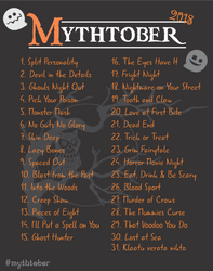 Mythtober Challenge Prompts 2018 by Mythka