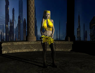 Lady in Yellow by Sioned01