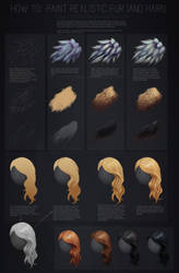 Tutorial: How to paint realistic hair and fur by FellFallow
