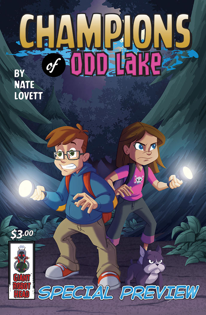 Champions of Odd Lake Preview Cover by natelovett