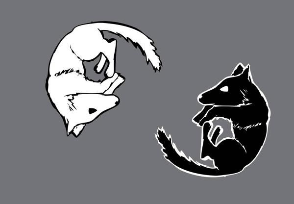 Wolf Yin Yang Tattoo Pair By Nefwolf On Deviantart