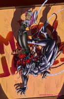 Spider Gwen Vs. She Venom by Paladin-Ciel