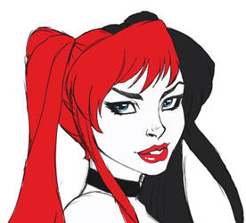 FANART: DC Harley Quinn Rough by KittysTavern