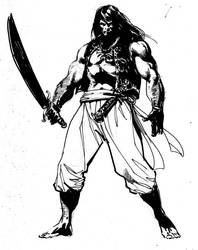 Old Conan sketch by StazJohnson